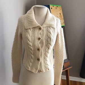 EUC THEORY CASHMERE CABLE KNIT CARDIGAN